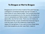 To Brogue or Not to Brogue | mens shoes