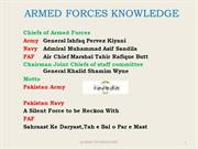 GK-ARMED FORCES KNOWLEDGE