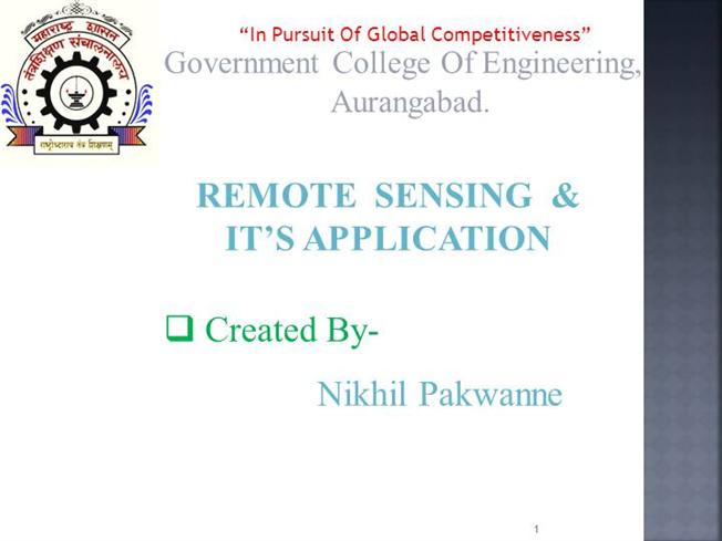 Introduction to remote sensing ppt video online download.