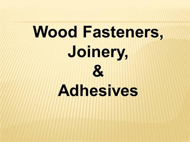 Wooden Joiner Ppt Authorstream