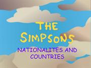 SIMPSONS countries and nationalities