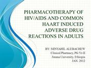 PHARMACOTHERAPY OF HIV-AIDS and HAART induced ADRs