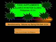 Presentation Alliance In Motion -Food Supplements