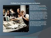 Profitable Forex Trading Strategies and Systems