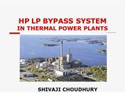 HP LP BYPASS SYSTEM IN THERMAL POWER PLANTS