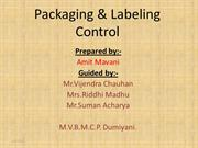 PACKAGING ND LABELLING CONTROL