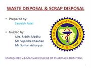 WASTE DISPOSAL & SCRAP DISPOSAL PROCEDURE