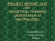 hmt project report