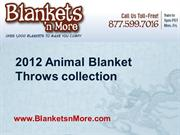 2012 Animal Blanket Throws collection