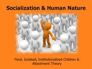 Socialization and human nature