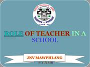 ROLE OF TEACHER IN A SCHOOL by p.v.nair