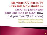 Marriage 777 Rocks TV-How we met?1981-no...