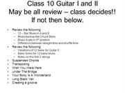 Guitar I and Guitar II  class 10 Spring 06 Rev B