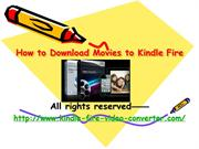 How to Download Movies to Kindle Fire