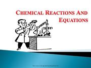 Chemical Equations & Reactions Class 10