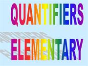 Quantifiers:A, AN, SOME, ANY, THE