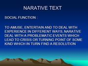 NARATIVE TEXT XII