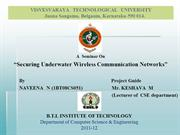 """Securing Underwater Wireless Communication Networks"""