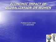 economic impact of globlization on woman