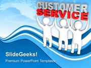 TEAMWORK 3D MEN LIFTING THE WORDS CUSTOMER SERVICE PPT TEMPLATE