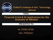 financial crises pakistan