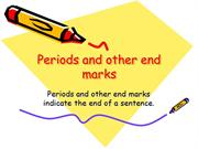 Periods and other end marks