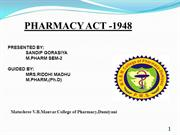 Pharmacy act 1948