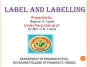 label and labelling