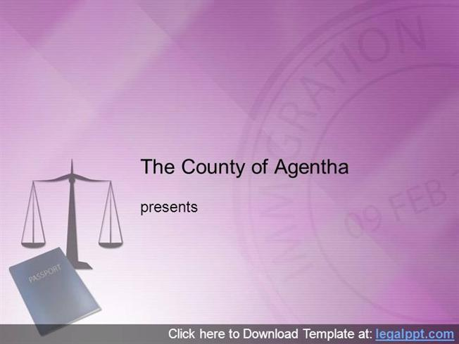 Immigration Law Powerpoint Template Authorstream