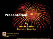 Presentation for UK education