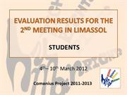 SS_EVALUATION RESULTS FOR THE 2ND MEETING IN LIMASSOL
