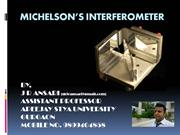MICHELSON'S INTERFEROMETER by J R ANSARI