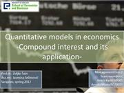 Compound interest and its application - Mgmt Line 2 Arnela Mustafic