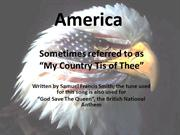 America-My Country Tis of Thee