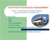 Professional Qualication in Library  Sciences throgh ITM