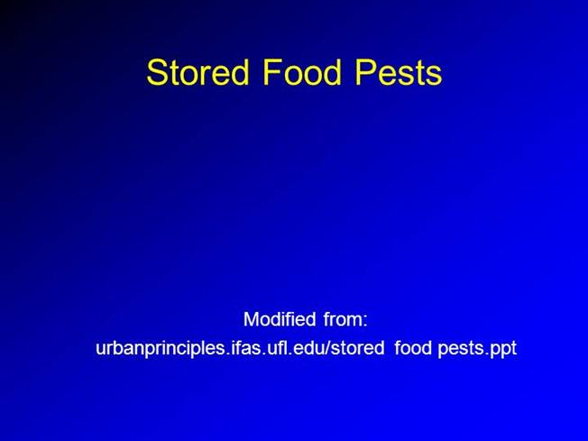 Stored Food Pests (Power Point Presentation) |authorSTREAM