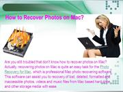 How to Recover Photos on Mac?