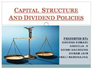 CAPITAL STRUCTURE AND DIVIDEND POLICIES
