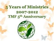 Taiwan Mission Foundation Ministry 2007-2012