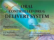 ORAL controlled drug delivery system kailash vilegave