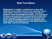 Math Test Maker