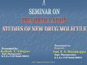 Preformulation and Production Managment by Kailash Vilegave