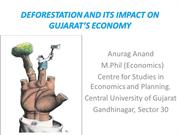 IMPACT OF DEFORESTATION ON GUJARAT'S ECONOMY