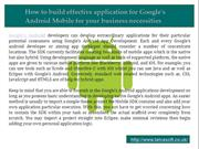 Android Apps Developers In UK