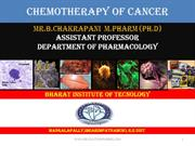 CHEMOTHERAPY OF CANCER