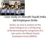Case study on maruthi Sujuki India Ltd Employees