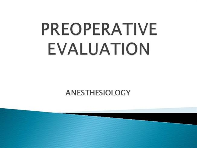 Preoperative evaluation authorstream pronofoot35fo Image collections