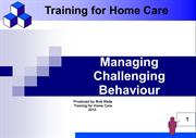 Managing Challenging Behaviour & Restraint