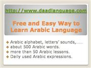 free and easy way to learn arabic langua