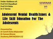 Adolescent mental health issues & LSE